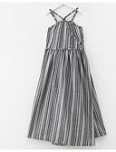 povoljno Haljine za djevojčice-Djeca Djevojčice Vintage Jednobojni Bez rukávů Haljina Sive boje 120