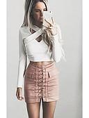 tanie Damska spódnica-Damskie Mini Bodycon Spódnice Solidne kolory / Szczupła