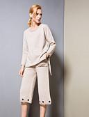 povoljno Ženski jednodijelni kostimi-Žene Osnovni Set - Jednobojni, Izbušeno Hlače