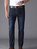 ieftine Pantaloni Bărbați si Pantaloni Scurți-Bărbați De Bază Blugi Pantaloni - Mată Albastru piscină