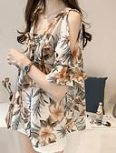 ieftine Bluză-Pentru femei Pătrat Tricou Bumbac Geometric