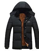 povoljno Muške jakne i kaputi-Muškarci Osnovni Padded - Jednobojni