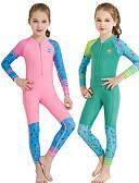 halpa Tyttöjen uima-asut-Dive&Sail Tyttöjen Skin-tyyppinen märkäpuku Spandex Sukelluspuvut UV-aurinkosuojaus Hengittävä Nopea kuivuminen Full Body Etuvetoketju - Uinti Snorklaus Vesiurheilu Piirretty Kevät, Syksy, Talvi, Kesä
