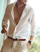 abordables Camisetas y Tops de Hombre-Hombre Playa Camisa Un Color Azul Piscina L / Manga Larga