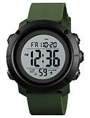 رخيصةأون ساعات رياضة-SKMEI للرجال الزوجين ساعة رياضية ساعة رقمية رقمي 50 m مقاوم للماء الكرونوغراف ساعة التوقف PU فرقة رقمي كاجوال موضة أسود / قرنفلي - فاتح أخضر أسود / أبيض أخضر غامق