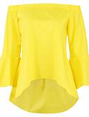 tanie T-shirt-podkoszulek Damskie Podstawowy Z odsłoniętymi ramionami Jendolity kolor