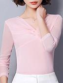 tanie T-shirt-T-shirt Damskie Podstawowy Głęboki dekolt w serek Szczupła - Solidne kolory