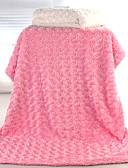 billige Sett med Gutter babyklær-Spedbarn Unisex Ensfarget Teppe Blå / Hvit / Rosa En Størrelse