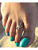 tanie Bielizna i skarpety męskie-Retro / Elegancki Pierścionek na palec u nogi Kreatywne Geometric Shape, Vintage Damskie Srebrny Biżuteria Na Urodziny / Wyjściowe