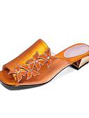 olcso Női kalapok-Női Kényelmes cipők Szintetikus Nyár Szandálok Alacsony Sárga / Piros / Zöld