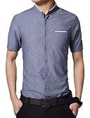 baratos Camisas Masculinas-camisa dos homens - suporte colorido contínuo