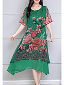 رخيصةأون فساتين سواريه-غير متماثل فستان غمد ذهاب للخارج للمرأة