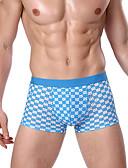 olcso Férfi alsóneműk és zoknik-Férfi Boxerek Tyúklábminta Közepes csípő