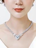 preiswerte Hochzeit Schals-Damen Kubikzirkonia Stilvoll Schmuck-Set - Herz Modisch, Elegant Einschließen Tropfen-Ohrringe Anhängerketten Weiß Für Hochzeit Party