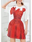 tanie Sukienki-Damskie Moda miejska Luźna Spodnie - Geometric Shape Nadruk Wysoka talia Biały