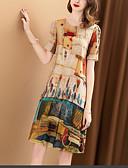 tanie Sukienki-Damskie Vintage / Wzornictwo chińskie Jedwab Luźna Spodnie - Kolorowy blok / Plemienny Nadruk Tęczowy / Impreza