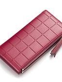 cheap Women's T-shirts-Women's Bags PU(Polyurethane) Wallet Zipper Black / Blushing Pink / Wine