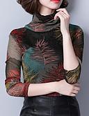 cheap Cocktail Dresses-women's blouse - geometric turtleneck