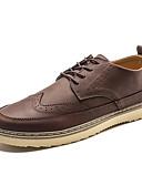 abordables Camisas de Hombre-Hombre Zapatos Bullock Cuero Sintético Otoño Británico Oxfords Transpirable Negro / Marrón / Gris oscuro