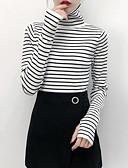 tanie Swetry damskie-Damskie Wyjściowe Golf Pulower Solidne kolory Długi rękaw