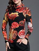 ieftine Tricou-Pentru femei Stil Nautic Tricou Ieșire Floral
