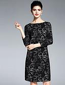ieftine Cămașă-Pentru femei De Bază Shift / Tricou Rochie Floral Sub Genunchi