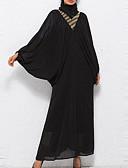 baratos Vestidos de Mulher-Mulheres Manga Morcego Abaya Vestido Sólido Longo