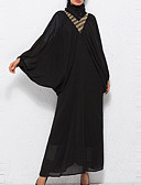 cheap Women's Dresses-Women's Batwing Sleeve Abaya Dress - Solid Colored