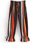 cheap Women's Dresses-Women's Basic Wide Leg Pants - Striped
