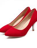 halpa Minihameet-Naisten Korkokengät Comfort-kengät Stilettikorko PU Kevät Musta / Punainen / Sininen / Päivittäin