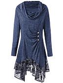 tanie Sukienki-Damskie Wyjściowe Podstawowy Luźna Linia A Sukienka - Solidne kolory Wysoka talia Do kolan / Seksowny