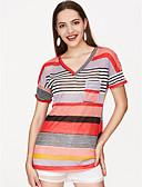 preiswerte T-Shirt-Damen Solide - Aktiv Baumwolle T-shirt / mit feinen Streifen
