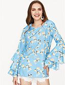 tanie Bluzka-T-shirt Damskie Podstawowy, Nadruk Bawełna Wyjściowe Luźna - Graficzny / Lato / Flare rękawem / Wzory kwiatów