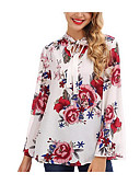 billige Aftenkjoler-Bluse Dame - Blomstret Grunnleggende