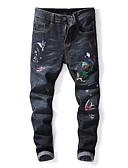 ieftine Pantaloni Bărbați si Pantaloni Scurți-Bărbați Șic Stradă Blugi Pantaloni Animal Negru & Roșu