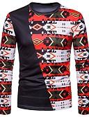 זול גברים-ג'קטים ומעילים-גיאומטרי בוהו טישרט - בגדי ריקוד גברים דפוס