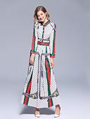 povoljno Ženske haljine-Žene Osnovni Korice Haljina - Print, Geometrijski oblici Maxi