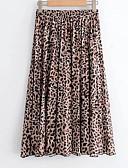 ieftine Fuste de Damă-Pentru femei Linie A De Bază Fuste - Leopard