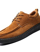 hesapli Paslanmaz Çelik-Erkek Ayakkabı PU Sonbahar Oxford Modeli Günlük için Siyah / Kahverengi / Haki