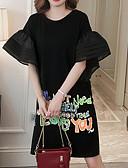 povoljno Maxi haljine-Žene Izlasci Širok kroj Majica Haljina Do koljena