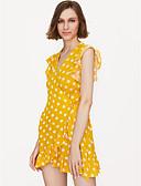 cheap Women's Hats-Women's Going out Mini Slim Sheath Dress Deep V Pink Yellow S M L / Sexy