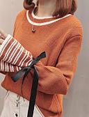זול חגורות אופנתיות-פסים - סוודר בסיסי בגדי ריקוד נשים