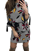 رخيصةأون فساتين فينتيدج قديمة-فستان نسائي ثوب ضيق أساسي / بوهو طباعة قصير جداً نحيل أوراق استوائية هندسي