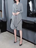 povoljno Ženske haljine-Žene Elegantno Korice Haljina Geometrijski oblici / Houndstooth Midi Crno-bijela