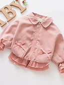 ieftine Seturi Îmbrăcăminte Fete-Copil Fete De Bază Mată Manșon Lung Regular Poliester Blazer Roz Îmbujorat