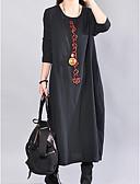 povoljno Ženske haljine-Žene Osnovni Širok kroj Hlače - Jednobojni Crna Crn