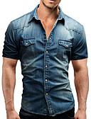זול חולצות לגברים-אחיד בסיסי חולצה - בגדי ריקוד גברים ג'ינס