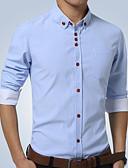 お買い得  メンズシャツ-男性用 ワーク シャツ ビジネス / ベーシック レギュラーカラー ソリッド / 長袖