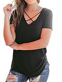 billige T-skjorter til damer-V-hals T-skjorte Dame - Ensfarget Ut på byen
