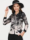 cheap Women's Shirts-Women's Holiday / Work Basic Shirt V Neck